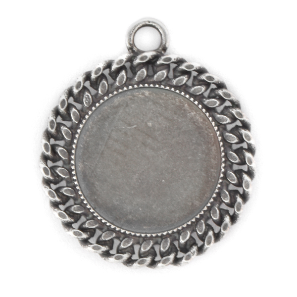 16mm Rivoli Flat back Pendant with chain and top loop