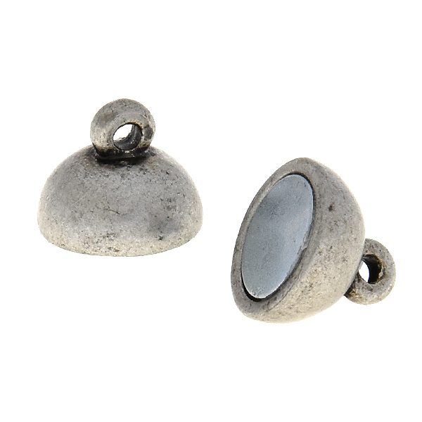 10mm Round magnetic clasp for jewelry making - 4 clasps pack