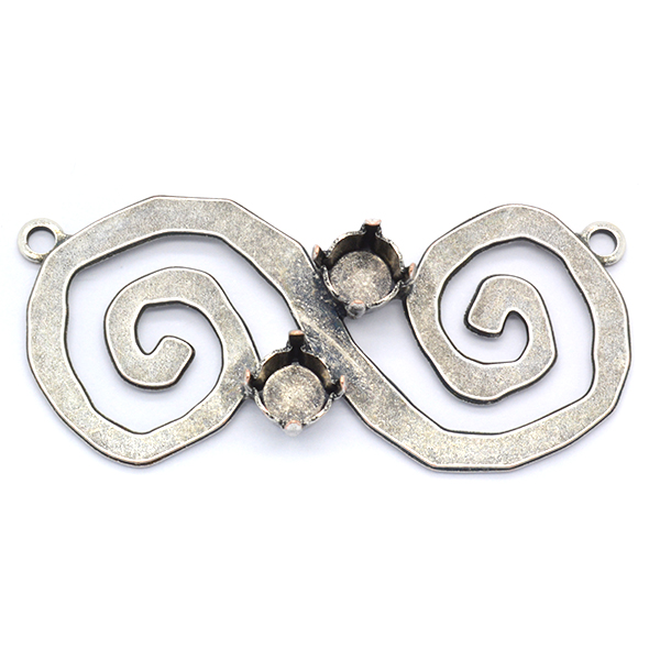 Spiral double pendant base with 29ss