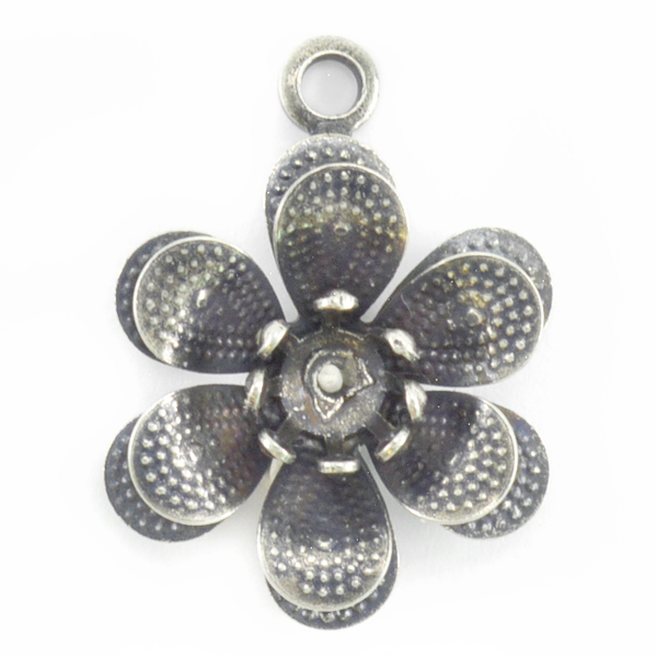29ss Flower Pendant base with Top loop