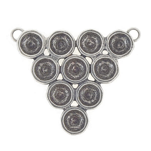 39ss Inverted Triangle Pendant base with two top loops