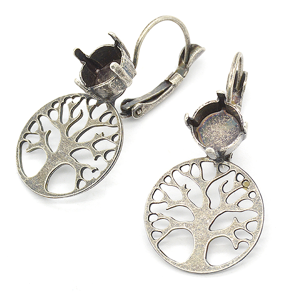 39ss Tree of Life Lever back Earring settings