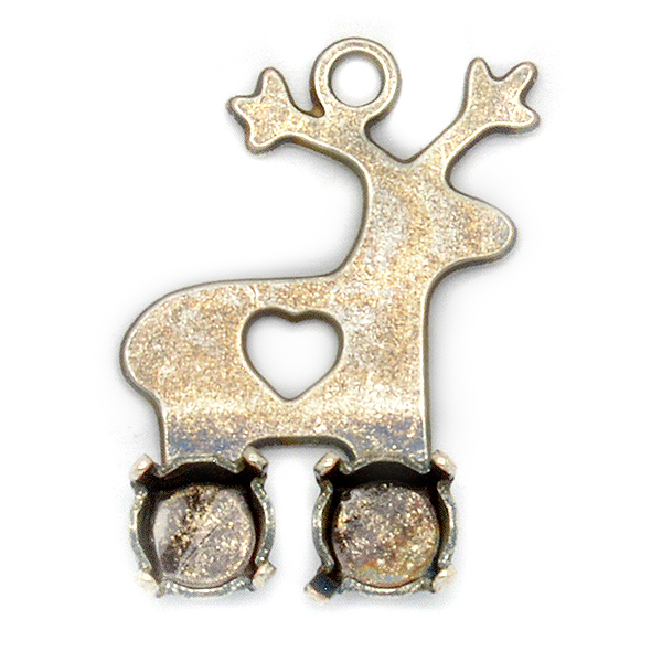 Deer shape with 24ss Pendant base