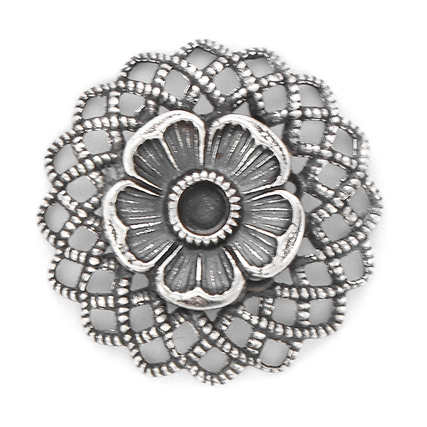 24pp Flower with Convex Filigree Pendant base