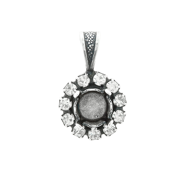 29ss stone setting with Rhinestoness  Pendant base with bail
