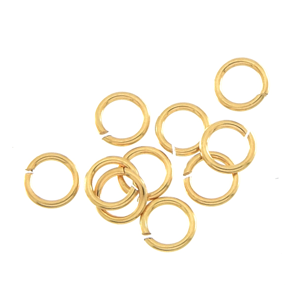 5mm Gold-filled jewelry jump rings - 10 pcs/pack