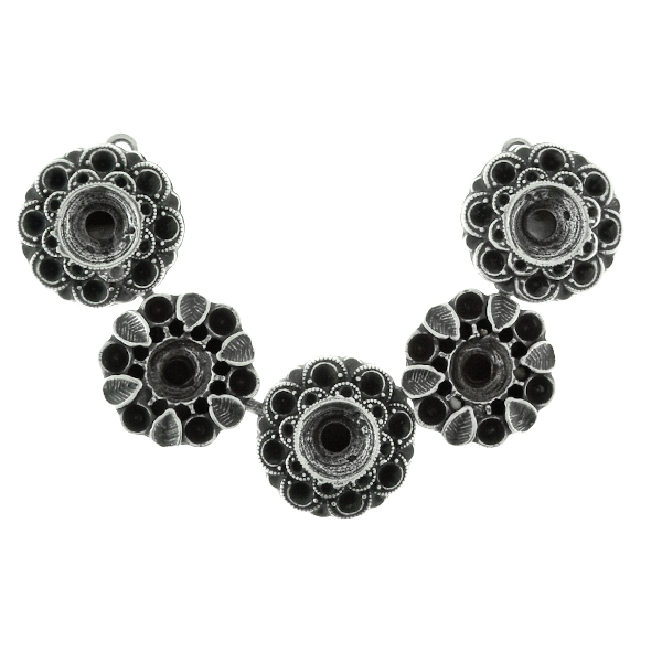 24ss,14pp and 29ss Metal casting Flower elements Centerpiece for Necklace base