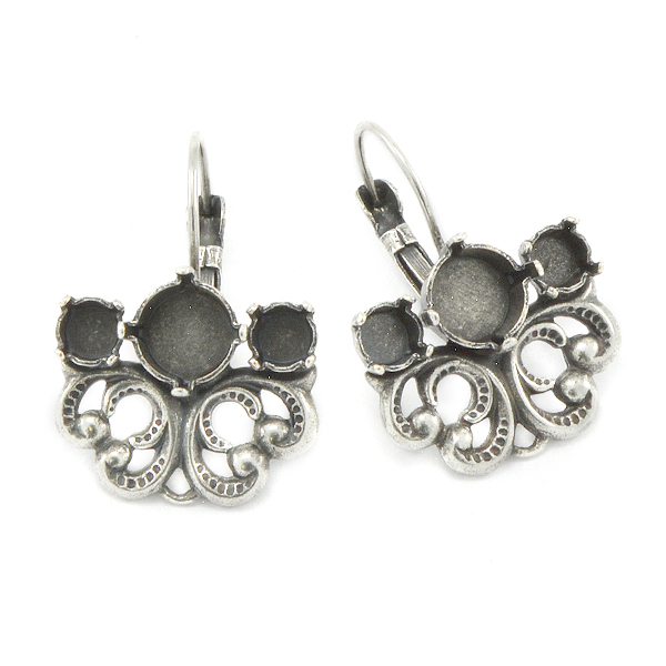 24ss, 39ss with Filigree element Lever back Earring bases