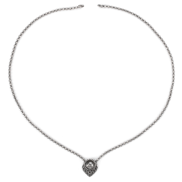 8pp, 39ss Heart shaped Solitaire Necklace base