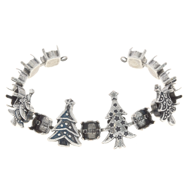 39ss Cup chain bracelet base with Christmas trees