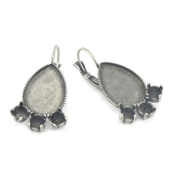 24ss and Pear shape 13X18 Flat back Hanging Earring bases