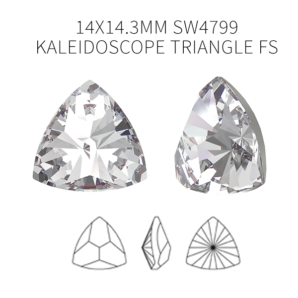 SW 4799 Kaleidoscope Triangle FS 14x14.3mm Crystal color