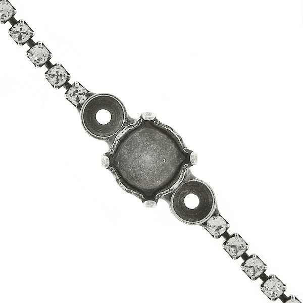 39ss Round stone setting and 32pp elements on 14pp Rhinestone chain bracelet