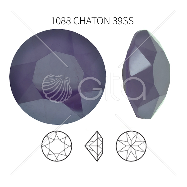 39ss/8mm Chaton 1088 Crystal Violet