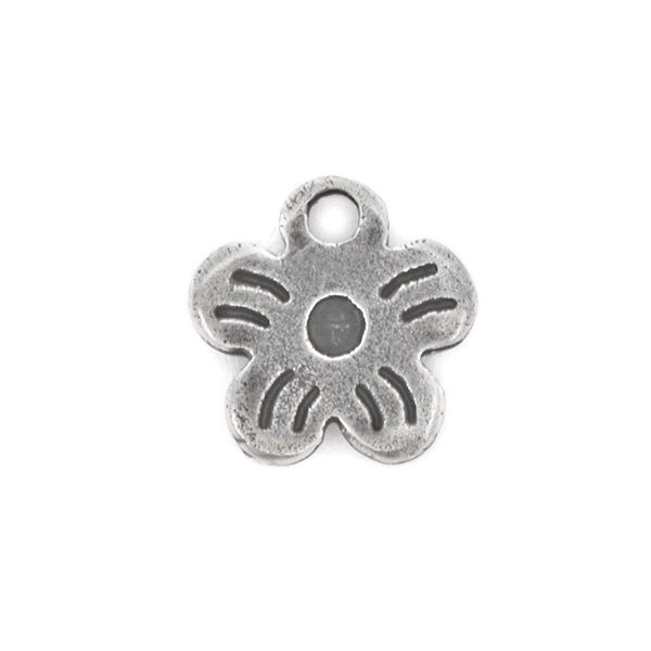 Flower charm with top hole