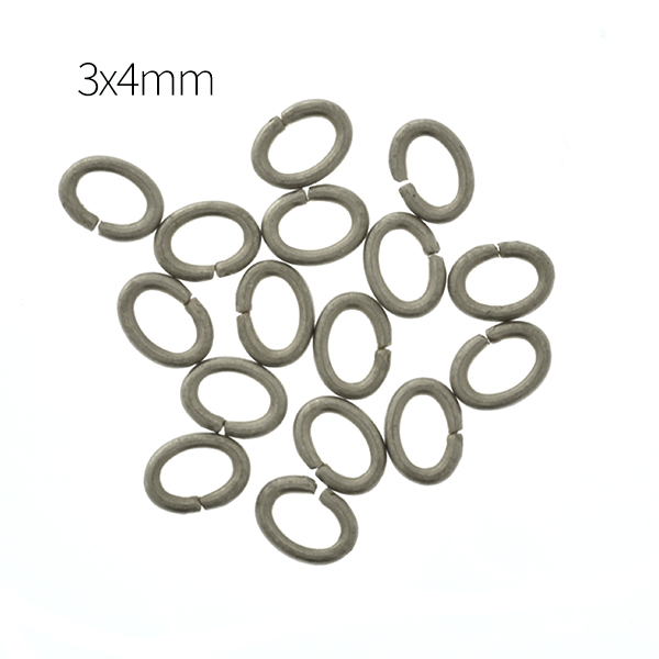3x4mm Oval Jump rings - 200pcs pack