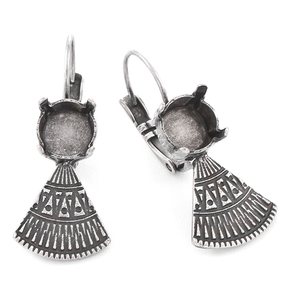 39ss with ethnic triangle element Earring base
