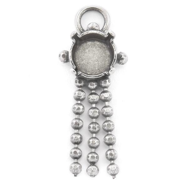 39ss Pendant base with hanging ball chain