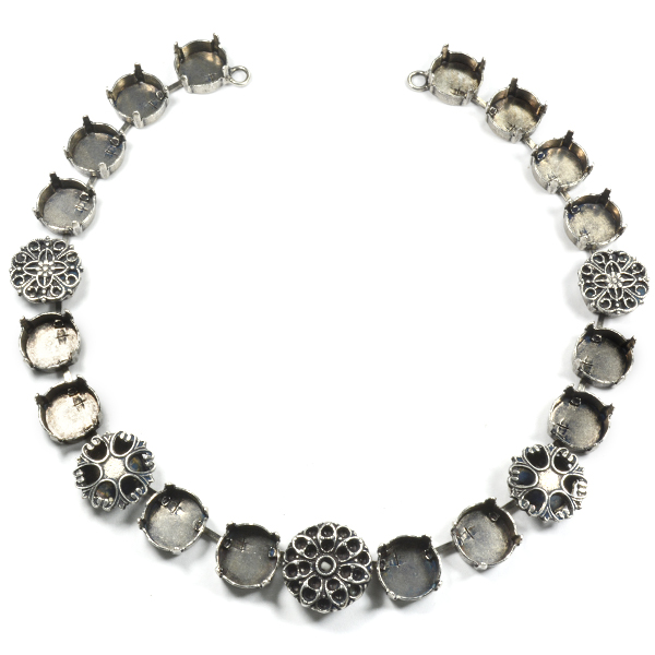 12mm Rivoli Necklace base with different elements