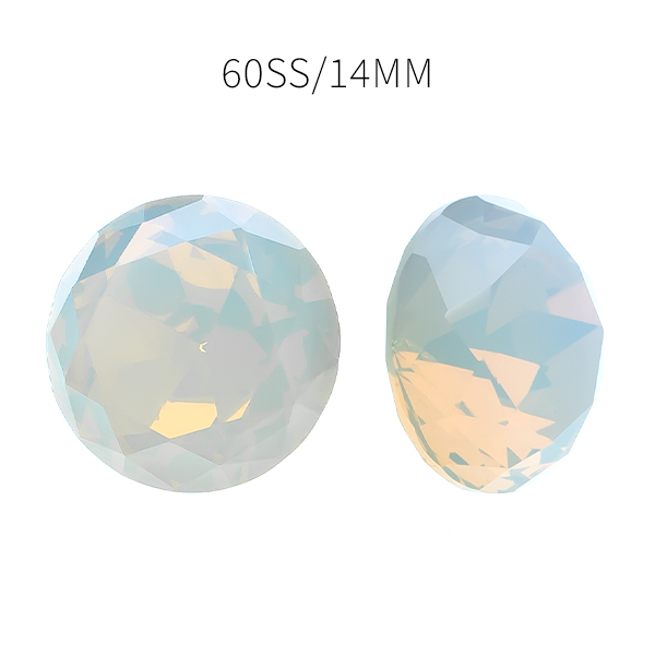 60ss Chaton round stone Crystal White Opal color - 5pcs pack