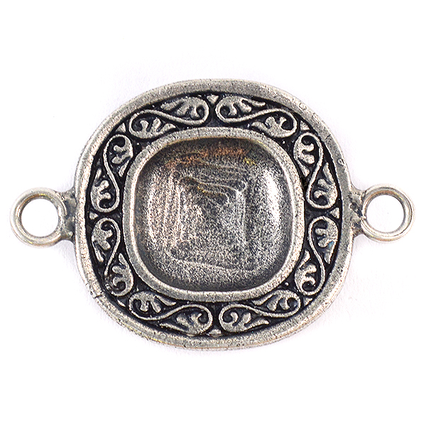 Decorated Square 4470 12-12mm stone setting with two side loops