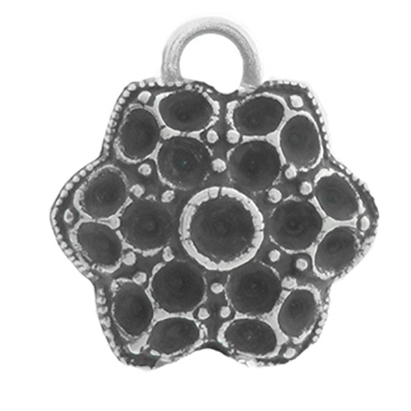 24pp, 32pp Big Decorative Flower metal casting Pendant base with one top loop