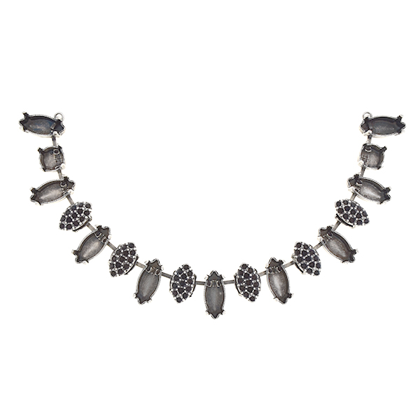 8pp, 39ss, 15x7mm Navette Centerpiece for necklace with marquise shaped elements