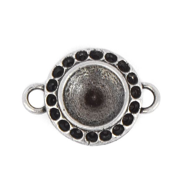 8pp, 39ss Round Stone setting with two side loops
