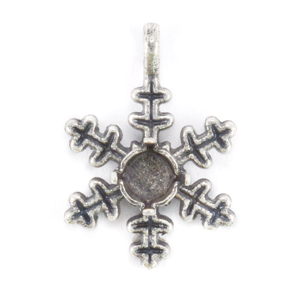 24ss Classic Snowflake Pendant base with top loop
