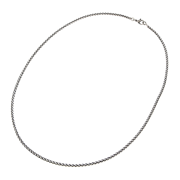 60cm of 3mm Round Wheat chain necklace with clasp