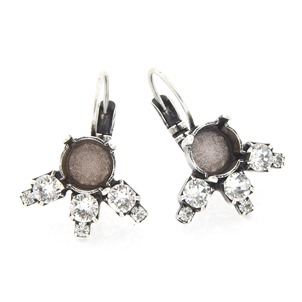 39ss with 14pp, 32pp Rhinestones Lever back Earring base
