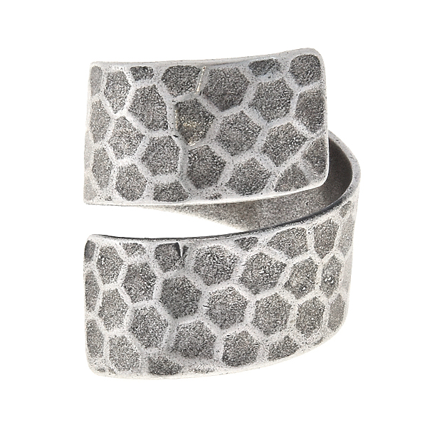 Plain spiral ring base with honeycombs print