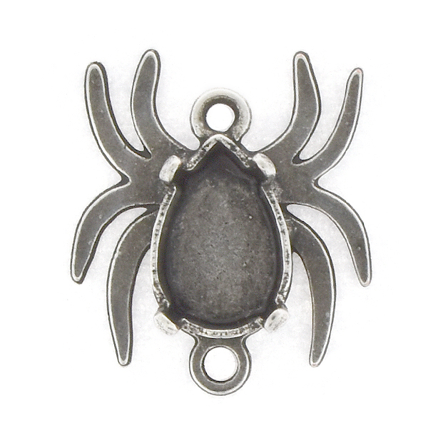 10x7mm Pear shape Spider Jewelry Connector with two loops