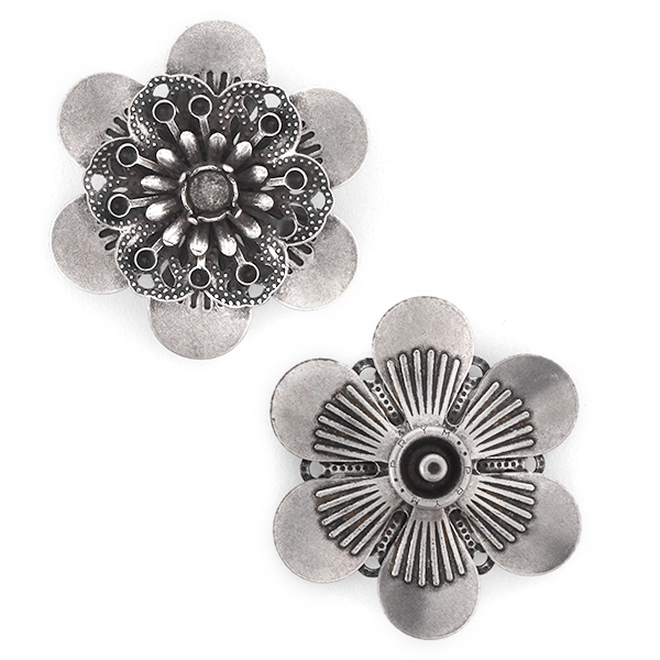 14pp, 29ss Flower Snap Button Jewelry