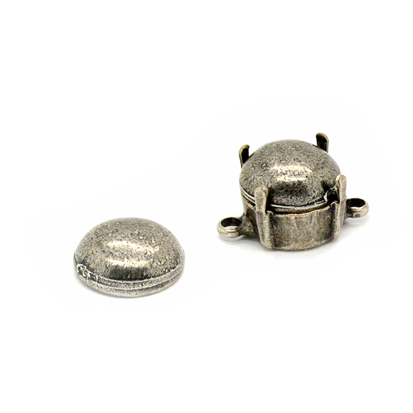 8mm Dome Metal Embedding element for 39ss settings - 4pcs pack