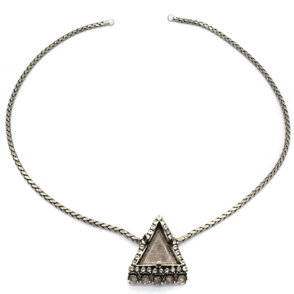 Delta 21.5mm Snake necklace base with 24ss