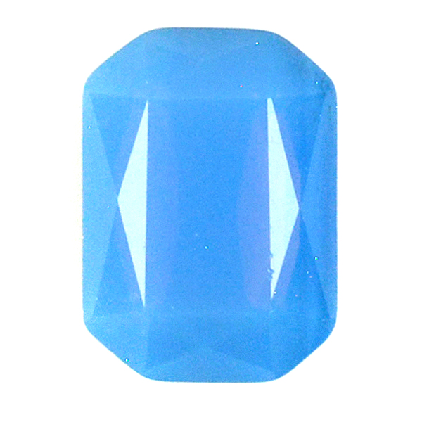 Opaque Blue Glass Stone 4610 Octagon 13X18 setting