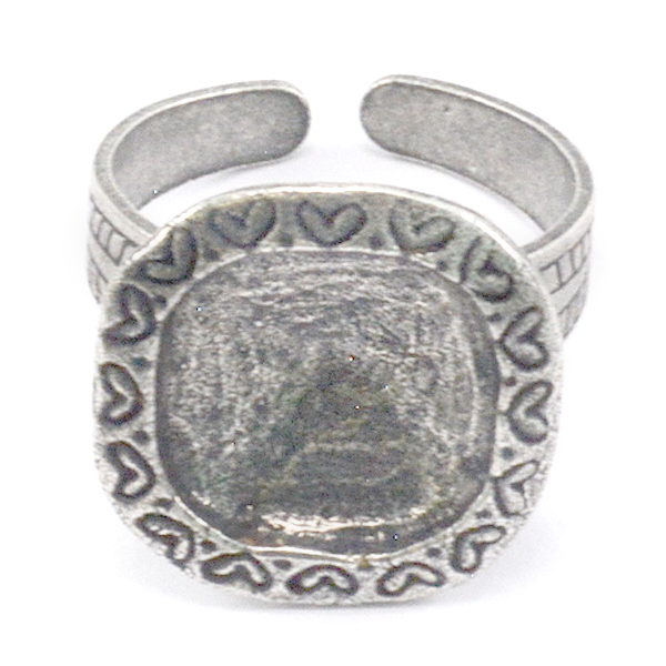 Decorated 12-12mm 4470 square ring base