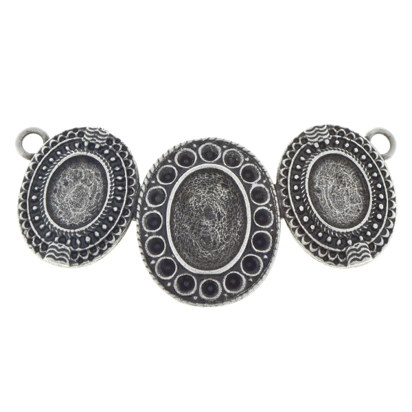 18pp, 10x8mm and 14x10mm Oval pendant base