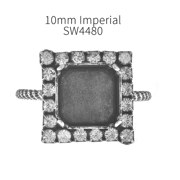 10mm Imperial 4480 Adjustable Thin ring base with Rhinestoness