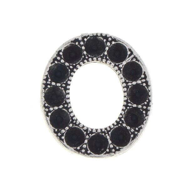 Oval shaped hollow element for 18pp Crystals