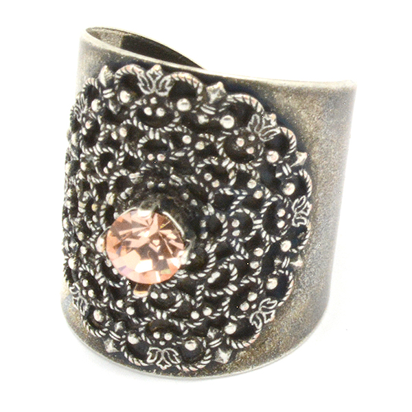 24ss Filigree decorated ring base
