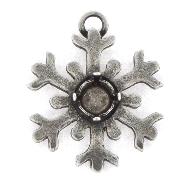 29ss Snowflake Pendant base with one top loop