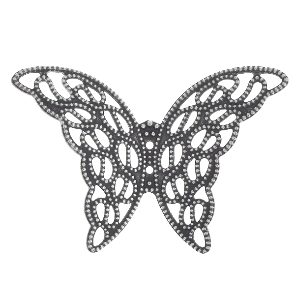 37.5x27.3mm Stamping metal filigree butterfly - 4 pcs pack