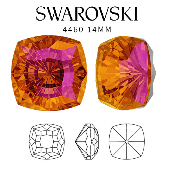 Astral Pink color 14mm SW 4460 Mystic Square crystal