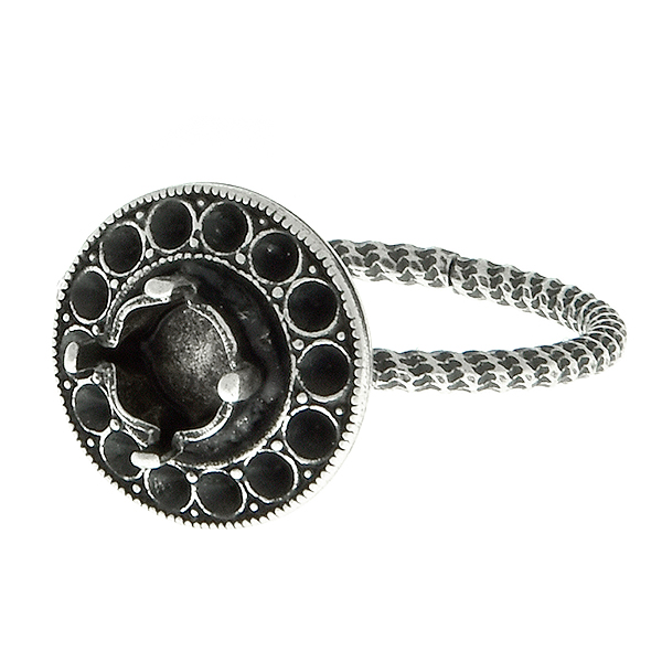 24ss stone setting and 8pp Hollow Circle metal casting Adjustable ring base