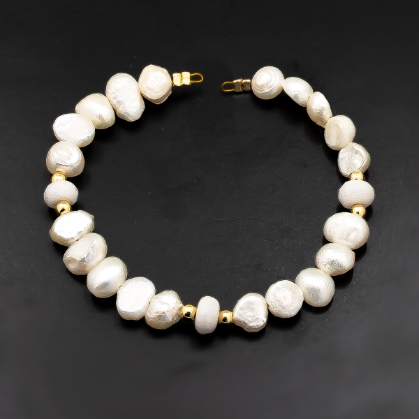 15.5cm Sea Shell Beads Strands connector with Gold plating color findings