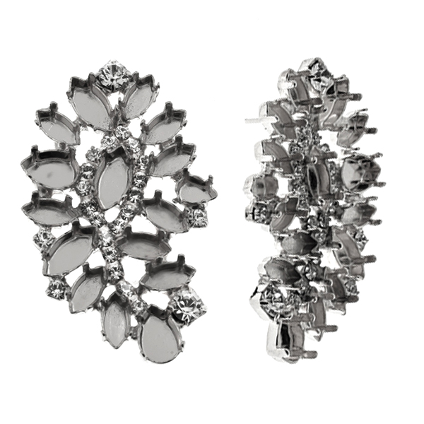 Mixed size Fancy mirror reflection stud earring bases