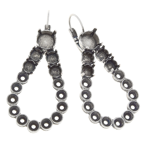 32pp, 24ss, 39ss Hollow drop Lever back earring bases