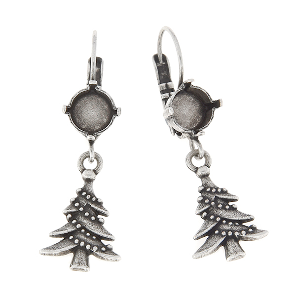 39ss with hanging Christmas Tree Lever back earring base
